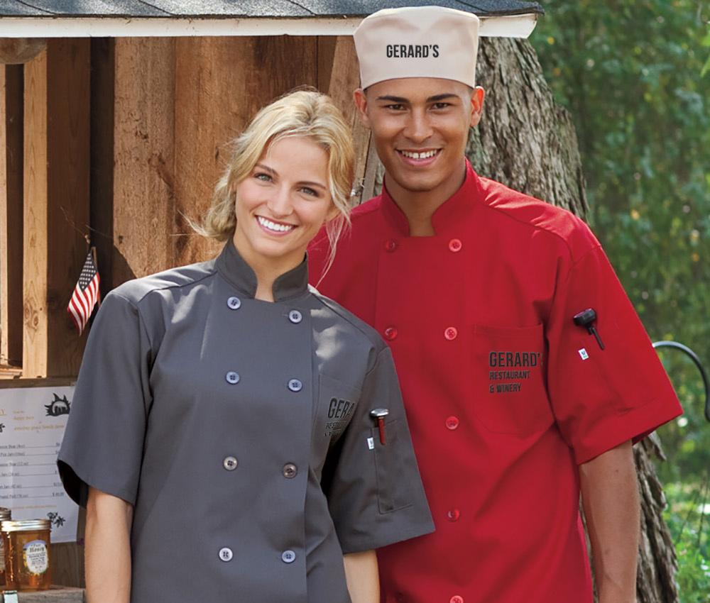 custom embroidered chef hat and jacket
