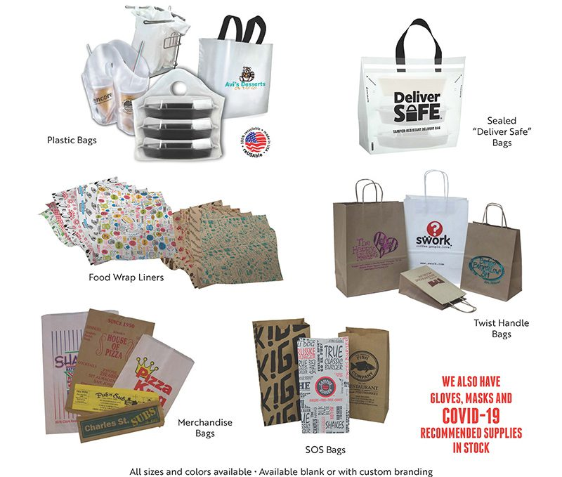 A Flyer of Debs Packaging most popular products for restaurants bakeries and cafes
